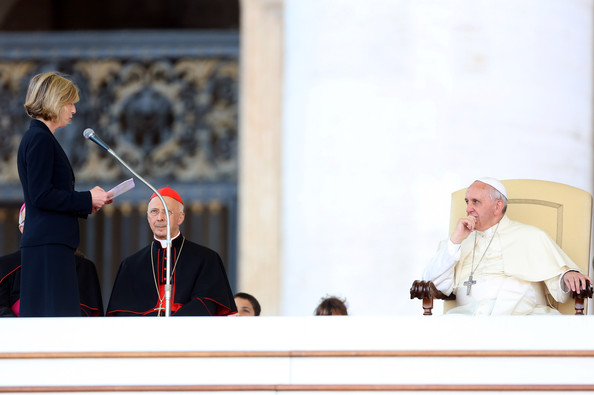 Pope Francis Attends a Meeting With Catholic Schools []