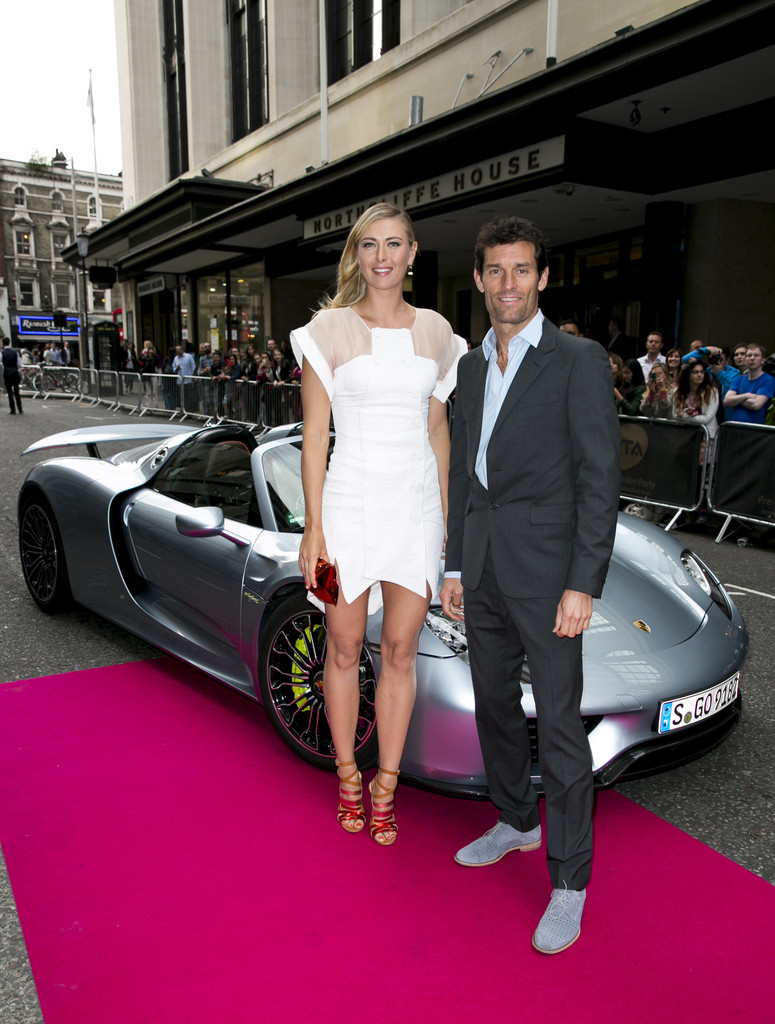 maria sharapova photos photos porsche arrivals at the. Black Bedroom Furniture Sets. Home Design Ideas