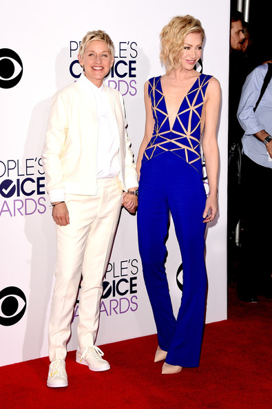 actress Portia de Rossi attend The 41st Annual People's Choice Awards
