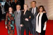 (L-R) Kristie Macosko Krieger, Steven Spielberg, Meryl Streep, Tom Hanks and Amy Pascal attend 'The Post' European Premeire at Odeon Leicester Square on January 10, 2018 in London, England.