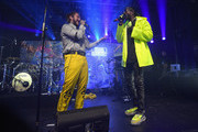 Post Malone and 2 Chainz perform for Bud Light's Dive Bar Tour at the Exit/In in Nashville on April 4, 2018 in Nashville, Tennessee.