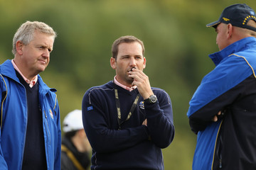 Colin Montgomerie Thomas Bjorn Practice Rounds-2010 Ryder Cup