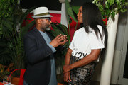 Theaster Gates and Venus Williams attend a Cocktail in Honor of Theaster Gates hosted by Prada and Derek Blasberg at Freehand Miami on December 6, 2018 in Miami, Florida.