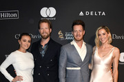 (L-R) Brittney Marie Kelley, Brian Kelley, Tyler Hubbard and Hayley Hubbard attend the Pre-GRAMMY Gala and GRAMMY Salute to Industry Icons Honoring Clarence Avant at The Beverly Hilton Hotel on February 9, 2019 in Beverly Hills, California.