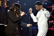 "(L-R) Faith Evans and King Combs perform onstage during the Pre-GRAMMY Gala and GRAMMY Salute to Industry Icons Honoring Sean ""Diddy"" Combs on January 25, 2020 in Beverly Hills, California."