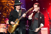 "(L-R) Carlos Santana and Ryan Tedder perform onstage during the Pre-GRAMMY Gala and GRAMMY Salute to Industry Icons Honoring Sean ""Diddy"" Combs on January 25, 2020 in Beverly Hills, California."