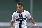 Djamel Mesbah of Parma FC in action during a pre-season tournament match between Parma FC, US Avellino and FC Girondins de Bordeaux at Stadio Partenio on August 2, 2014 in Avellino, Italy.