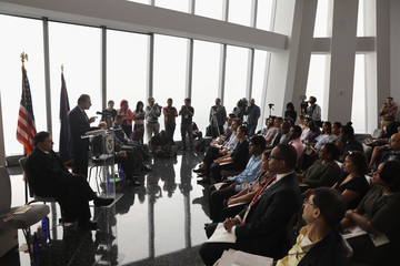 Preet Bharara Naturalization Ceremony Held on Observation Deck of One World Trade in NYC