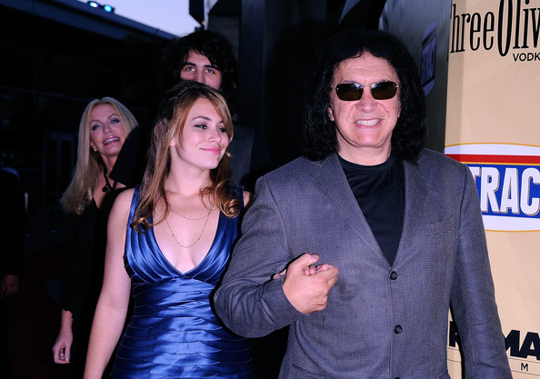 gene simmons daughter. Musician Gene Simmons poses