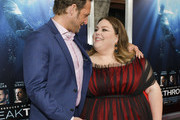 """Josh Lucas (L) and Chrissy Metz attend the premiere of 20th Century Fox's """"Breakthrough"""" at Westwood Regency Theater on April 11, 2019 in Los Angeles, California."""
