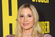 """Mira Sorvino attends the Premiere of 20th Century Fox's """"Stuber"""" at Regal Cinemas L.A. Live on July 10, 2019 in Los Angeles, California."""