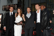 "(L-R) Actors Bradley Cooper, Jessica Biel, Sharlto Copley, Liam Neeson, and Quinton 'Rampage' Jackson arrive at the premiere of 20th Century Fox's ""The A-Team"" held at Grauman's Chinese Theatre on June 3, 2010 in Los Angeles, California."