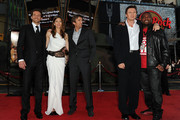 """(L-R) Actors Bradley Cooper, Jessica Biel, Sharlto Copley, Liam Neeson, and Quinton 'Rampage' Jackson arrive at the premiere of 20th Century Fox's """"The A-Team"""" held at Grauman's Chinese Theatre on June 3, 2010 in Los Angeles, California."""