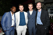 """(L-R) William Jackson Harper, Jack Reynor, Will Poulter and Vilhelm Blomgren attend the after party of the premiere of  A24's """"Midsommar"""" on June 24, 2019 in Hollywood, California."""