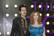 Actor Geoffrey Arend and actress Christina Hendricks attends the Neon Demon Premiere, in Hollywood, California, on June 14, 2016. / AFP / VALERIE MACON