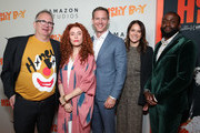 "Ted Hope, Alma Har'el, Matt Newman, Julie Rapaport and Byron Bowers attend the premiere of Amazon Studios ""Honey Boy"" at The Dome at Arclight Hollywood on November 05, 2019 in Hollywood, California."