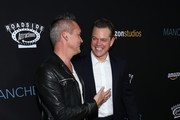 "Head of Amazon Studios Roy Price and actor Matt Damon attend the premiere of Amazon Studios' ""Manchester By The Sea"" at Samuel Goldwyn Theater on November 14, 2016 in Beverly Hills, California."