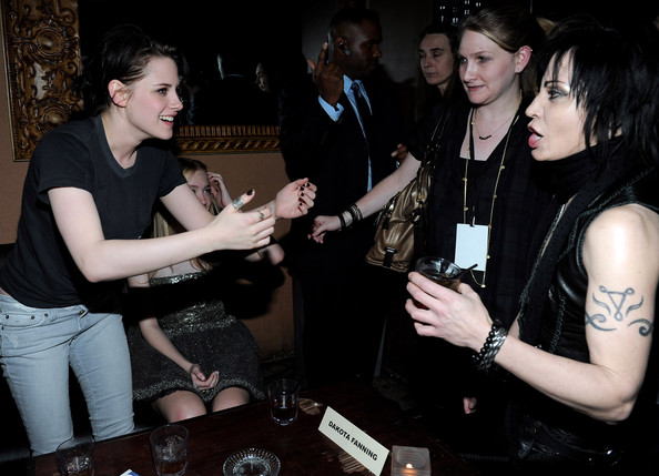 Actress Kristen Stewart and singer Joan Jett attend the after party for the premiere of Apparition's 'The Runaways' held at ArcLight Cinemas Cinerama Dome on March 11, 2010 in Los Angeles, California.