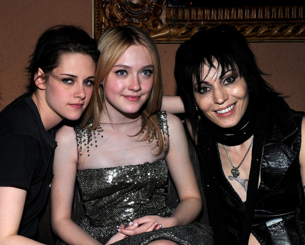 Actress Kristen Stewart, actress Dakota Fanning and singer Joan Jett attend the after party for the premiere of Apparition's 'The Runaways' held at ArcLight Cinemas Cinerama Dome on March 11, 2010 in Los Angeles, California.