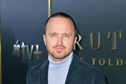 """Aaron Paul attends the Premiere of Apple TV+'s """"Truth Be Told"""" at AMPAS Samuel Goldwyn Theater on November 11, 2019 in Beverly Hills, California."""