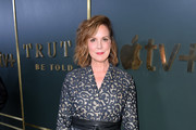 """Elizabeth Perkins attends the Premiere of Apple TV+'s """"Truth Be Told"""" at AMPAS Samuel Goldwyn Theater on November 11, 2019 in Beverly Hills, California."""