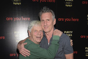 Actors Robert Morse and Christopher Stanley attend the premiere of 'Are You Here' at ArcLight Hollywood on August 18, 2014 in Hollywood, California.