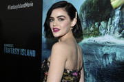 "Actress Lucy Hale attends the premiere of Columbia Pictures' ""Blumhouse's Fantasy Island"" at AMC Century City 15 on February 11, 2020 in Century City, California."
