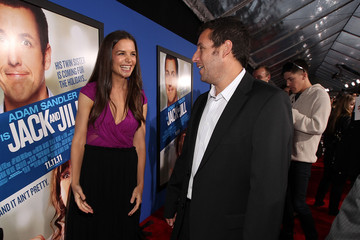"""Adam Sandler Katie Holmes Premiere Of Columbia Pictures' """"Jack And Jill"""" - Red Carpet"""