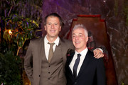 """Scott Rosenberg (L) and Jeff Pinkner attend the premiere of Columbia Pictures' """"Jumanji: Welcome To The Jungle"""" on December 11, 2017 in Hollywood, California."""