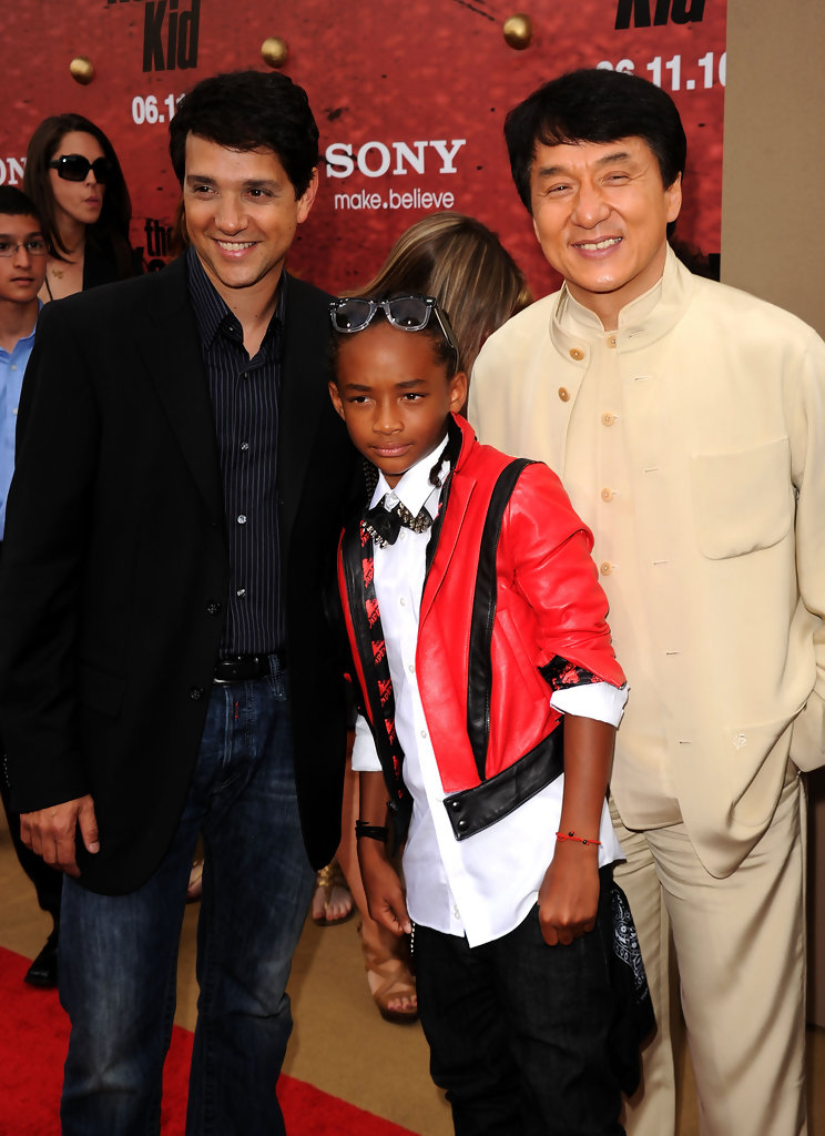 Ralph Macchio and Jackie Chan Photos Photos - Premiere Of Columbia Pictures...