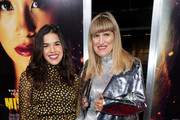 Actress America Ferrera and director Catherine Hardwicke attend the premiere of Columbia Pictures' 'Miss Bala' at Regal LA Live Stadium 14 on January 30, 2019 in Los Angeles, California.