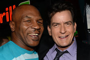 Mike Tyson Charlie Sheen Photos Photo