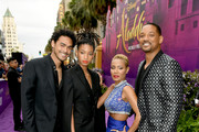 """(L-R) Trey Smith, Willow Smith, Jada Pinkett Smith and Will Smith arrive at the premiere of Disney's """"Aladdin"""" at the El Capitan Theater on May 21, 2019 in Los Angeles, California."""
