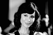 """Image digitally converted from color to Black and White) Actress Catherine Bell attends the Premiere of Disney's """"The BFG"""" at the El Capitan Theatre on June 21, 2016 in Hollywood, California."""