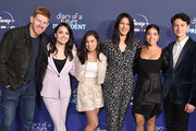 "Michael Weaver, Ilana Pena, Tess Romero, Agnes Chu, Gina Rodriguez, and Charlie Bushnell attend the Premiere Of Disney +'s ""Diary Of A Future President"" at ArcLight Cinemas on January 14, 2020 in Hollywood, California."