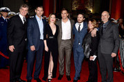 "(L-R) Producer Jim Whitaker, actors Eric Bana, Holliday Grainger, Chris Pine, Casey Affleck, producer Dorothy Aufiero and director Craig Gillespie pose at the premiere of Disney's ""The Finest Hours"" at the TCL Chinese Theatre on January 25, 2016 in Los Angeles, California."
