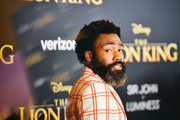 """Image has been edited using digital filters) Donald Glover attends the premiere of Disney's """"The Lion King"""" at Dolby Theatre on July 09, 2019 in Hollywood, California."""