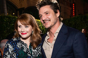 Bryce Dallas Howard and Pedro Pascal attend the premiere of Disney+'s 'The Mandalorian' at El Capitan Theatre on November 13, 2019 in Los Angeles, California.