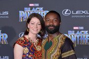 """Jessica Oyelowo and David Oyelowo attend the premiere of Disney and Marvel's """"Black Panther"""" at Dolby Theatre on January 29, 2018 in Hollywood, California."""
