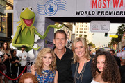 (L-R) Actors Francesca Capaldi, G. Hannelius, Regan Burns, Beth Littleford and Kayla Maisonet arrive for the premiere of Disney's 'Muppets Most Wanted' at the El Capitan Theatre on March 11, 2014 in Hollywood, California.