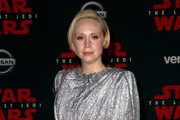 """Gwendoline Christie attends the premiere of Disney Pictures and Lucasfilm's """"Star Wars: The Last Jedi"""" at The Shrine Auditorium on December 9, 2017 in Los Angeles, California."""
