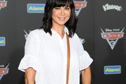 """Actor Catherine Bell attends the premiere of Disney and Pixar's """"Cars 3"""" at Anaheim Convention Center on June 10, 2017 in Anaheim, California."""