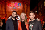 "(L-R) Co-director/Screenwriter Adrian Molina, Producer Darla K. Anderson, and Director Lee Unkrich at the U.S. Premiere of Disney-Pixar's ""Coco"" at the El Capitan Theatre on November 8, 2017, in Hollywood, California."