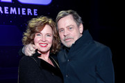 """(L-R) Marilou York and Mark Hamill attend the Premiere of Disney's """"Star Wars: The Rise Of Skywalker"""" on December 16, 2019 in Hollywood, California."""