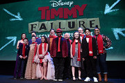 "Ophelia Lovibond, Winslow Fegley, Caitlin Weierhauser, Chloe Coleman, Ai-Chan Carrier, Kyle Bornheimer, Kei, Wallace Shawn, Ruby Matenko, Director Tom McCarthy, Santiago Veizaga and Yvette Nicole Brown attend the premiere of Disney's ""Timmy Failure: Mistakes Were Made"" at Hollywood's El Capitan Theater on January 30, 2020. ""Timmy Failure: Mistakes Were Made"" premieres on February 7, 2020, streaming only on Disney+."
