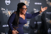 "Oprah Winfrey attends the premiere of Disney's ""A Wrinkle In Time"" at the El Capitan Theatre on February 26, 2018 in Los Angeles, California."