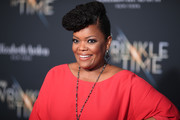 "Yvette Nicole Brown attends the premiere of Disney's ""A Wrinkle In Time"" at the El Capitan Theatre on February 26, 2018 in Los Angeles, California."