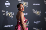 "Tracee Ellis Ross attends the premiere of Disney's ""A Wrinkle In Time"" at the El Capitan Theatre on February 26, 2018 in Los Angeles, California."