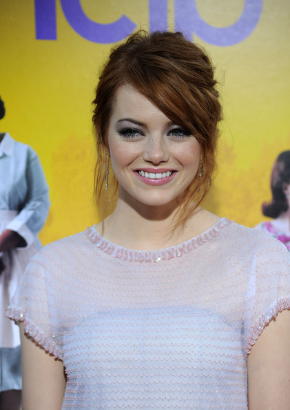 Actress Emma Stone attends the premiere Of DreamWorks Pictures' 'The Help' held at The Academy of Motion Picture Arts and Sciences, Samuel Goldwyn Theater on August 9, 2011 in Beverly Hills, California.
