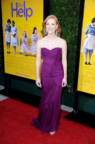 Actress Jessica Chastain attends the premiere Of DreamWorks Pictures' 'The Help' held at The Academy of Motion Picture Arts and Sciences, Samuel Goldwyn Theater on August 9, 2011 in Beverly Hills, California.